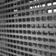 Window grid blind store front aluminium or steel